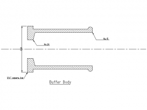 Buffer body dimensions