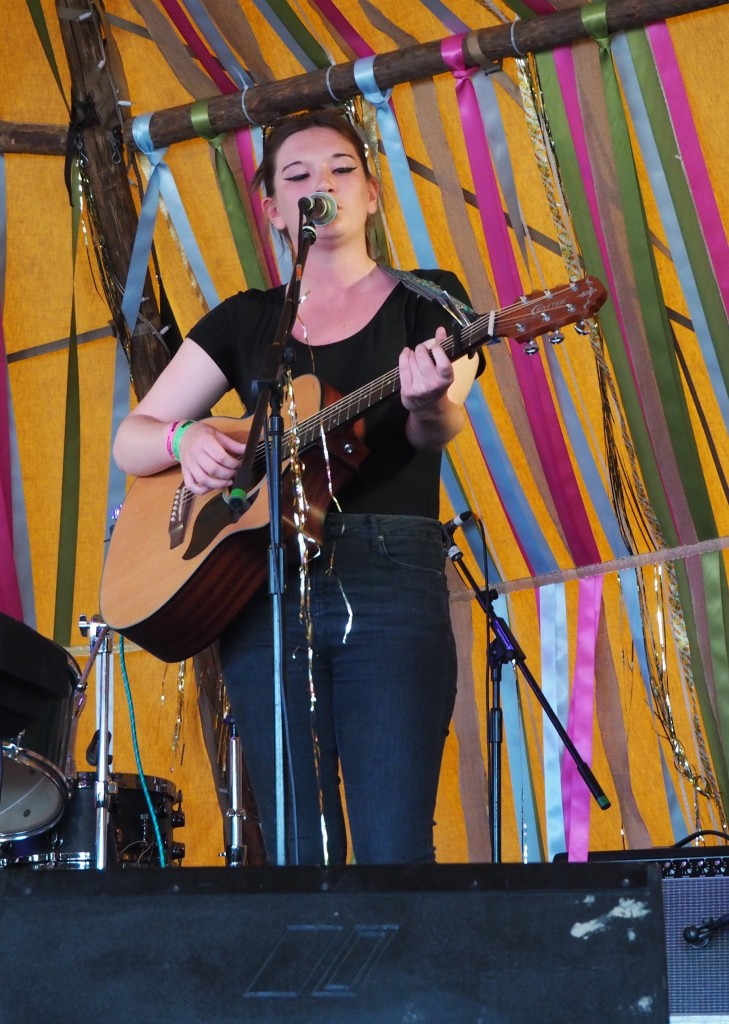Emma Hughes playing at Carfest North 2015
