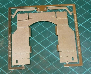 Front running plate etching