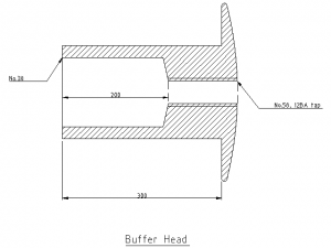Buffer head dimensions