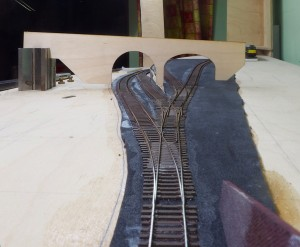 Track glued down and complete