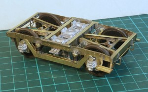 Near complete bogie with wheels fitted.