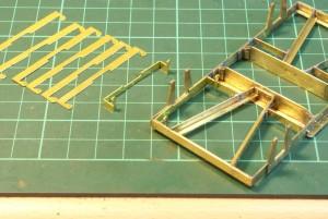 Brake hanger units folded up